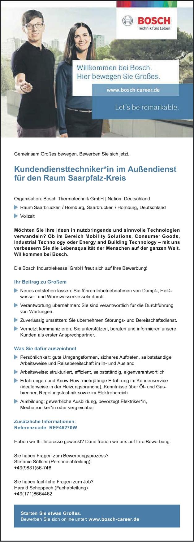 Kundendiensttechniker/in