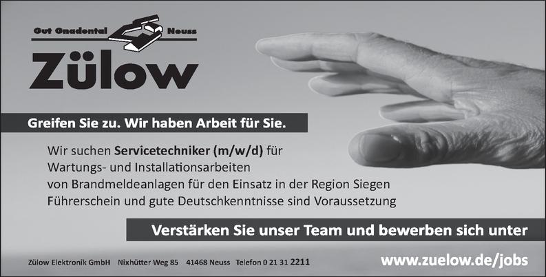 Servicetechniker m/w/d