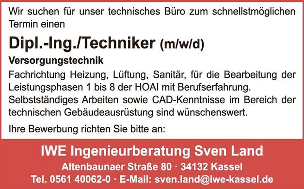 Techniker (m/w/d)