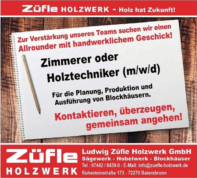 Zimmerer/in