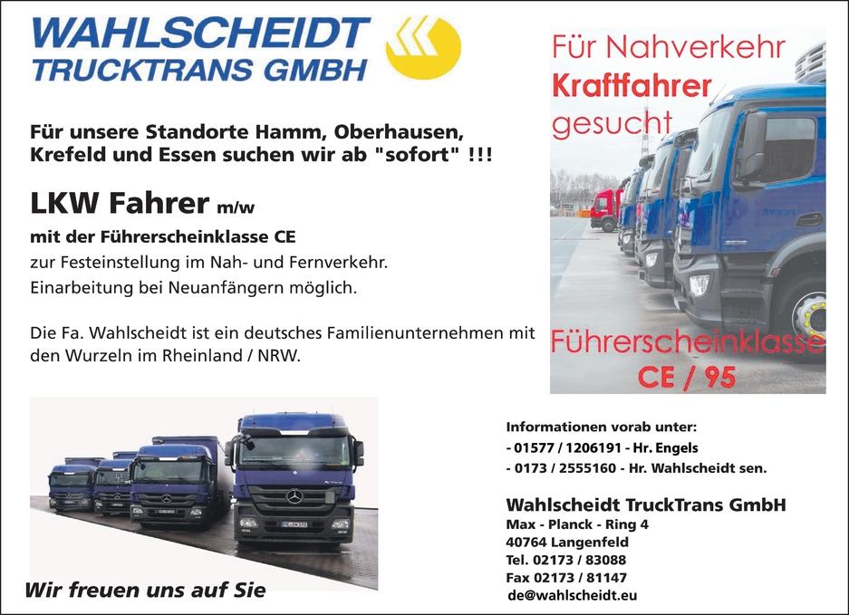 LKW Fahrer m/w