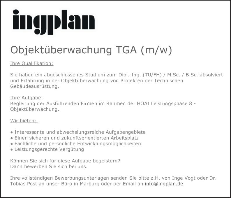 Objektüberwachung TGA (m/w)