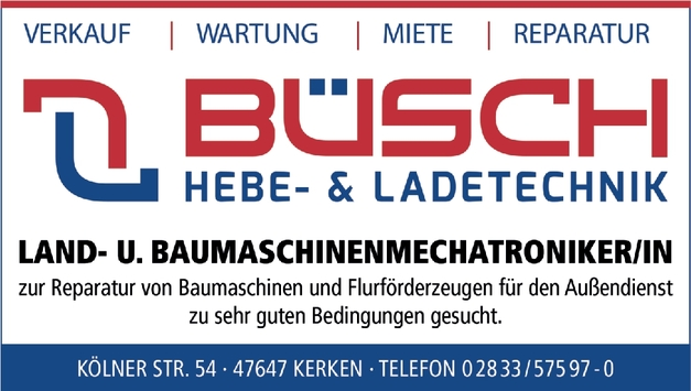 Land- und Baumaschinenmechatroniker (m/w/d)