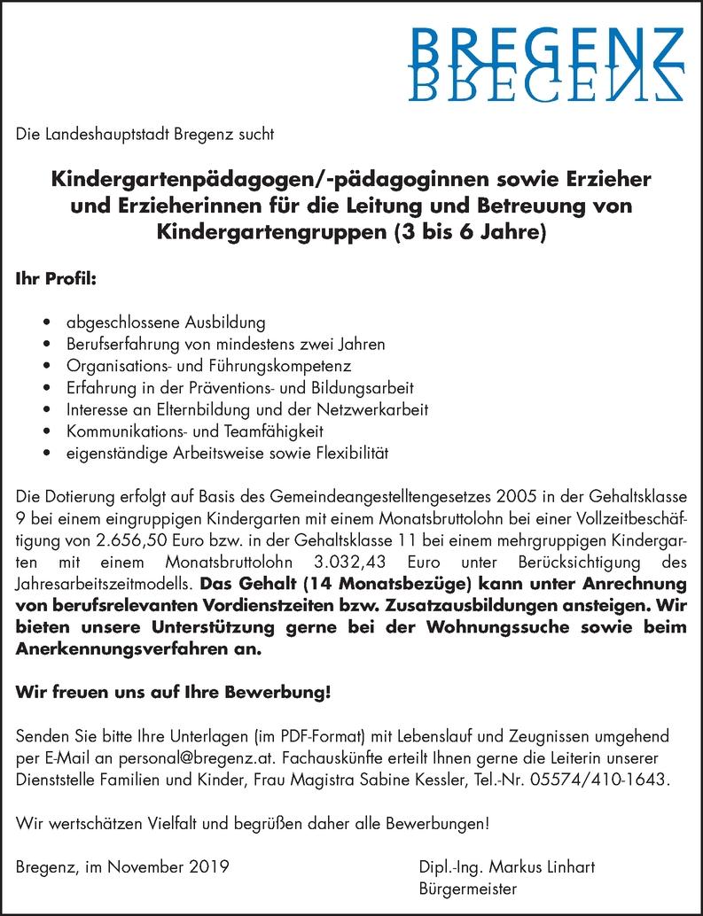 Kindergartenpädagoge/in