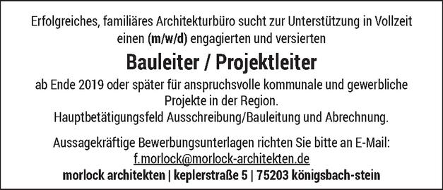 Projektleiter/in