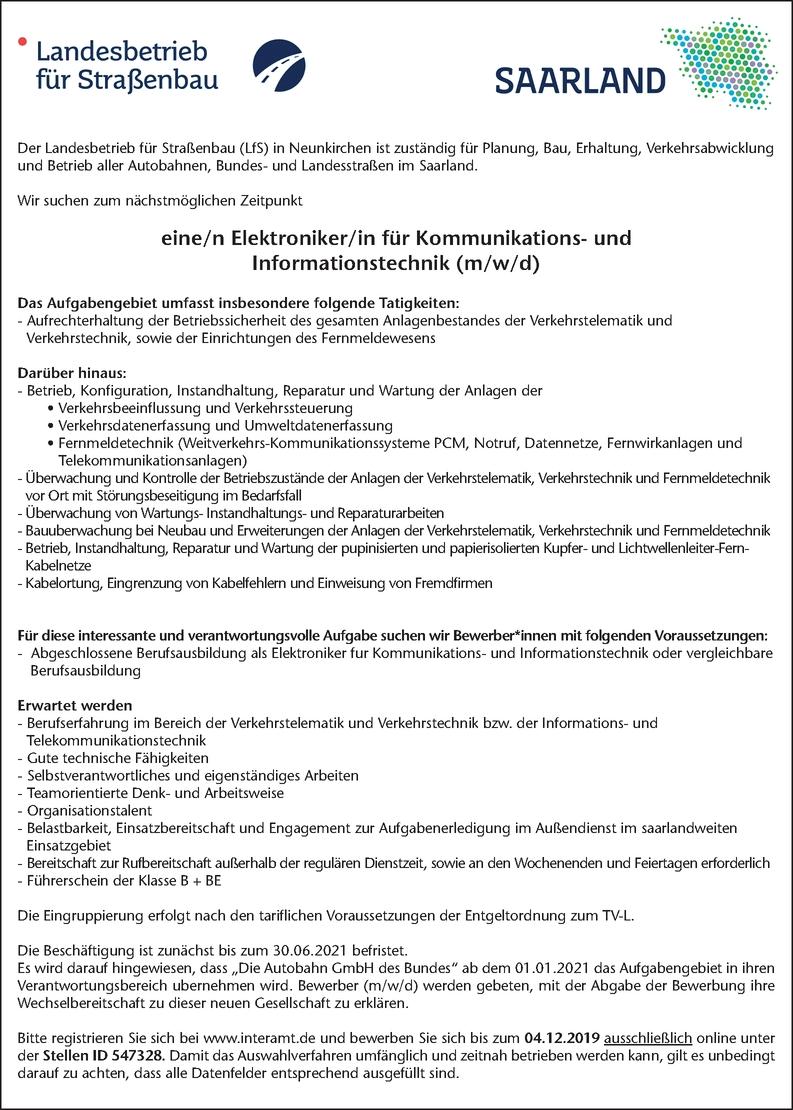 Elektroniker/in für Kommunikations-und Informationstechnik