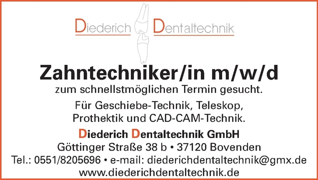 Zahntechniker/in m/w/d