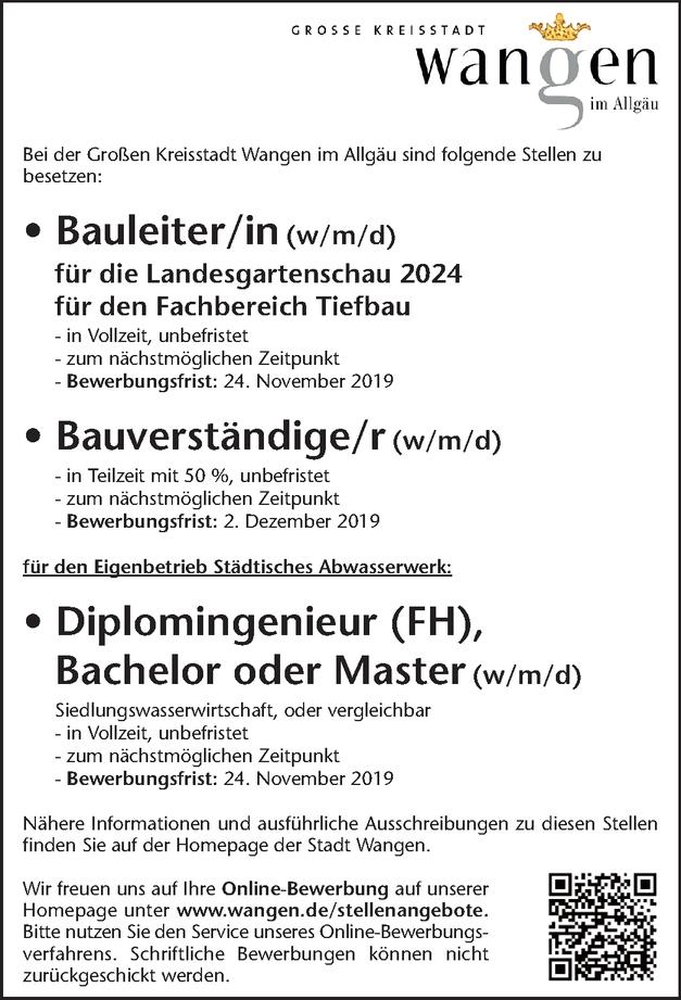Diplomingenieur (w/m/d) Siedlungswasserwirtschaft