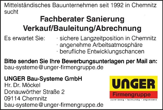 Fachberater Sanierung Verkauf/ Bauleitung/Abrechnung m/w/d