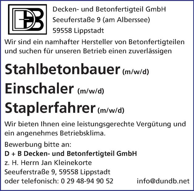 Stahlbetonbauer / in