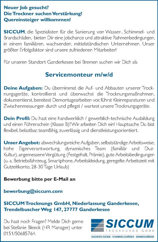 Servicemonteur m/w/d