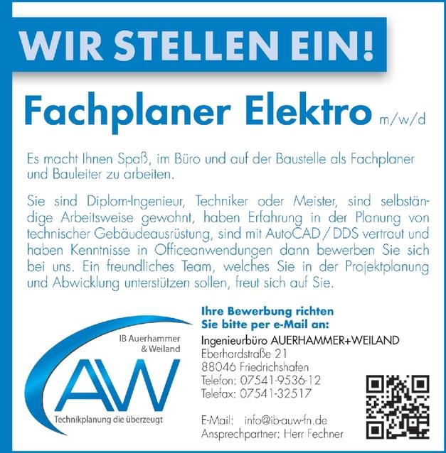 Ingenieur Elektrotechnik M W D In Friedrichshafen