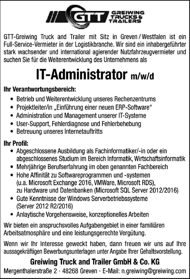 IT-Administrator m/w/d