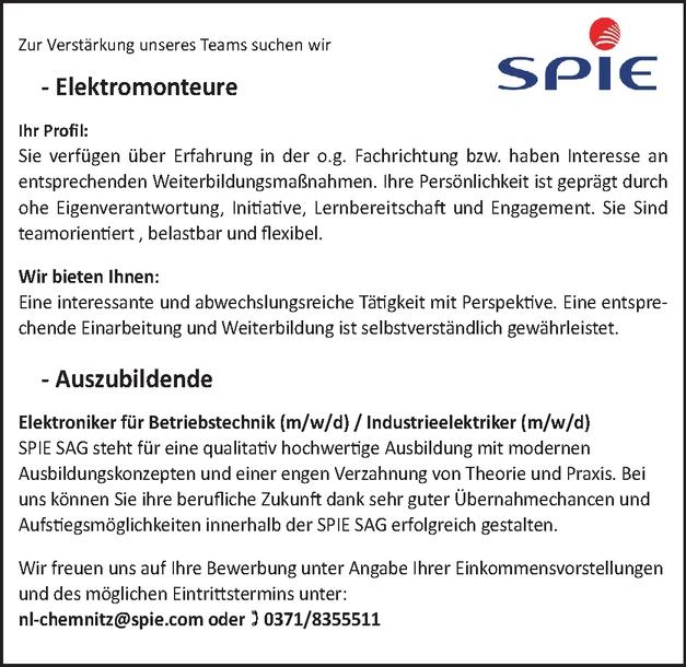 Elektroniker für Betriebstechnik m/w/d