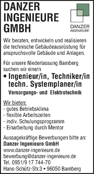Ingenieur Elektrotechnik In Bamberg