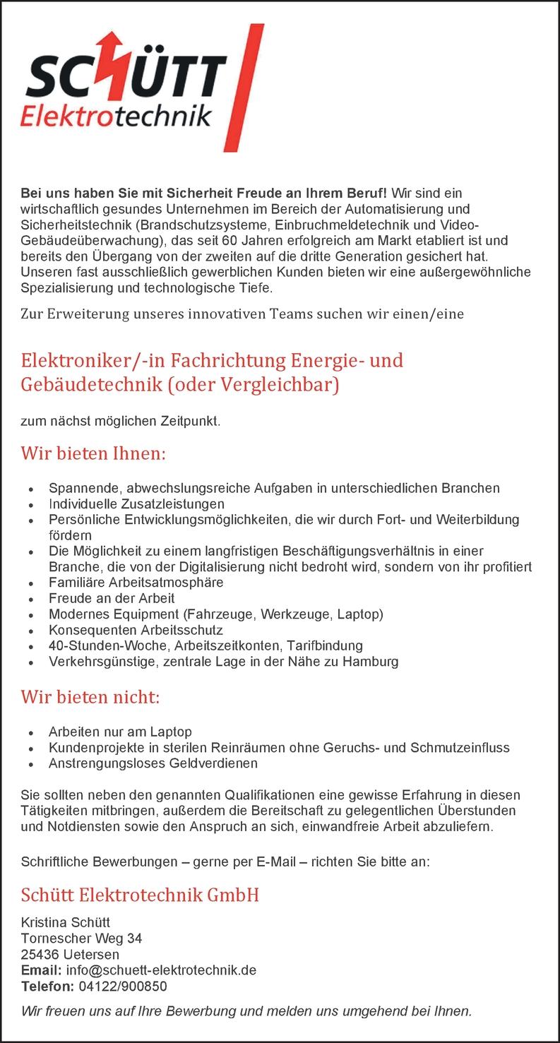 Elektroniker In Fachrichtung Energie Und Gebaudetechnik In