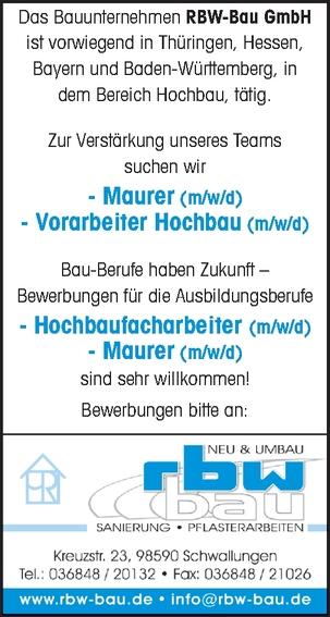 AZUBI Hochbaufacharbeiter (m/w/d)