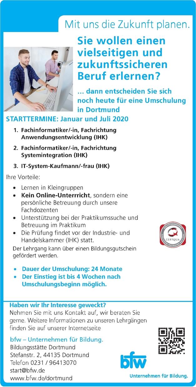 Umschulung zum/zur IT-System-Kaufmann/-frau