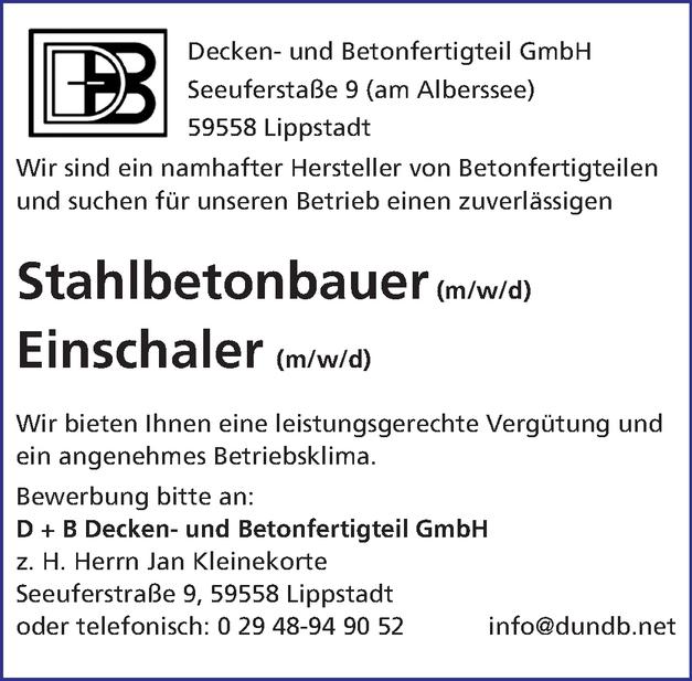 Stahlbetonbauer/in