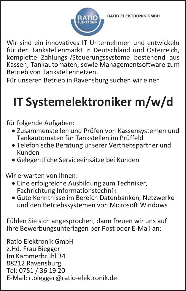 IT-Systemelektroniker/in