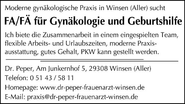 FA/FÄ für Gynäkologie und Geburtshilfe