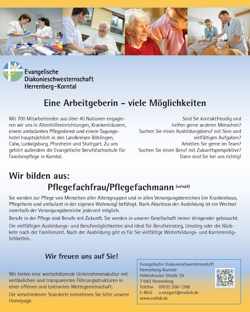 Ausbildung Pflegefachfrau / Pflegefachmann w/m/d