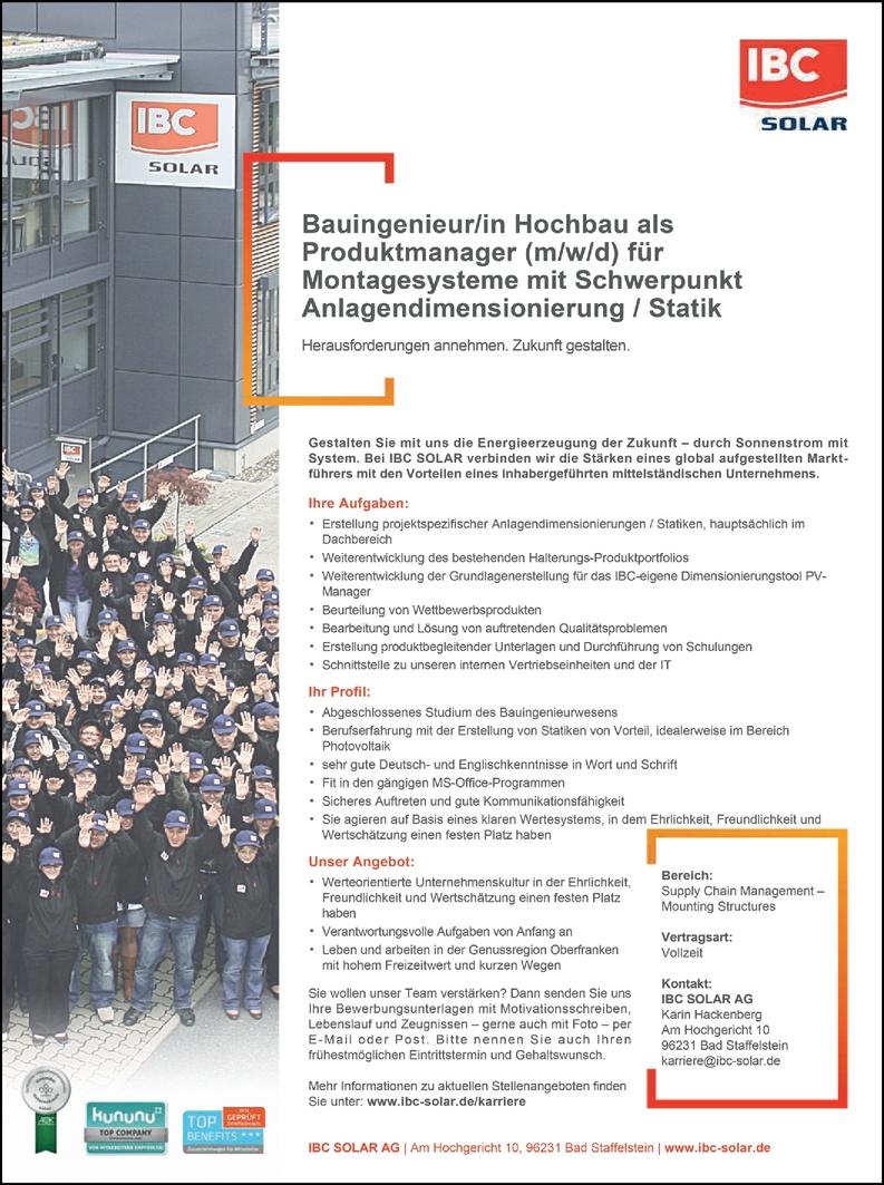 Bauingenieur/in Hochbau (m/w/d)