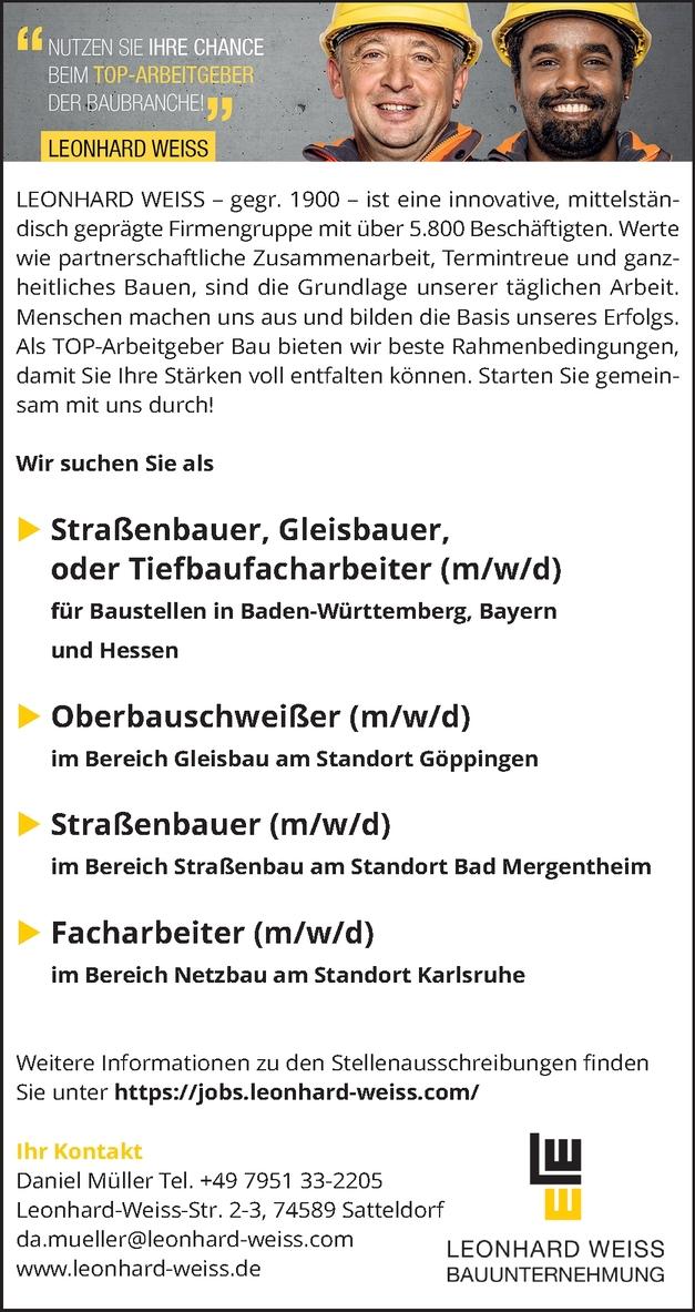 Straßenbauer/Gleisbauer m/w/d
