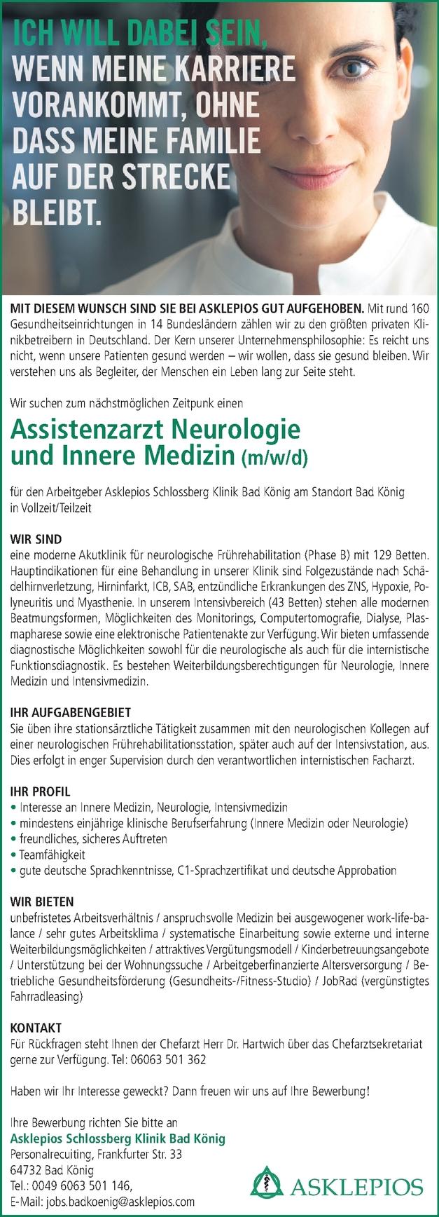 Assistenzarzt/-ärztin Neurologie