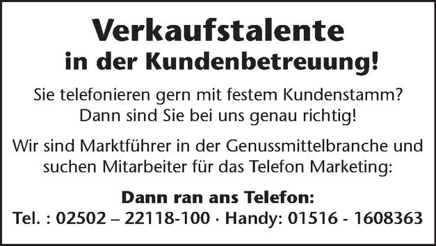 Verkaufsberater/in