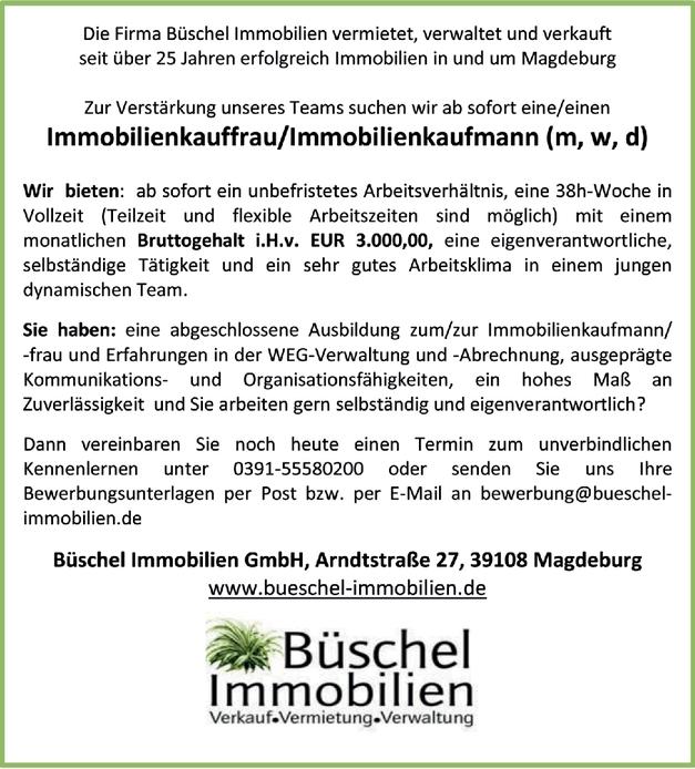 Immobilienkauffrau Immobilienkaufmann (m/w/d)