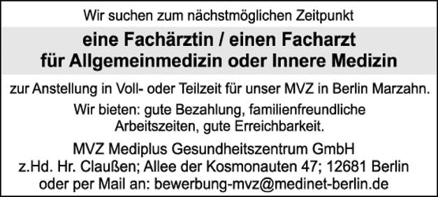 Facharzt / Fachärztin Allgemeinmedizin