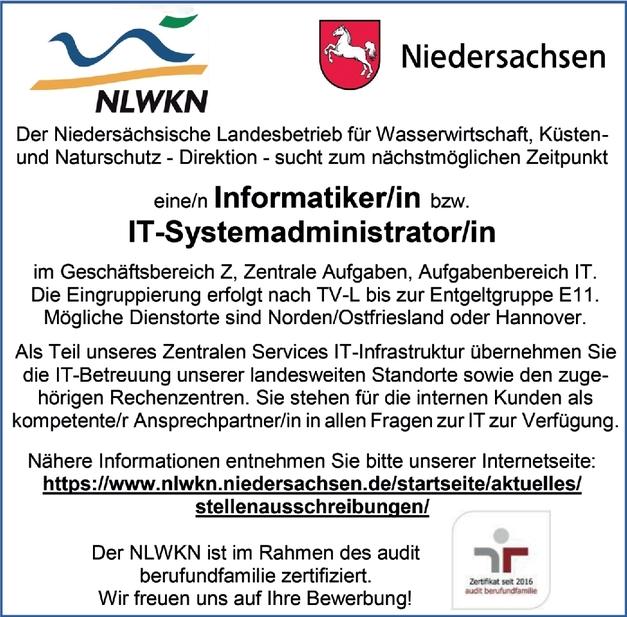 Informatiker IT-Systemadministrator m/w/d