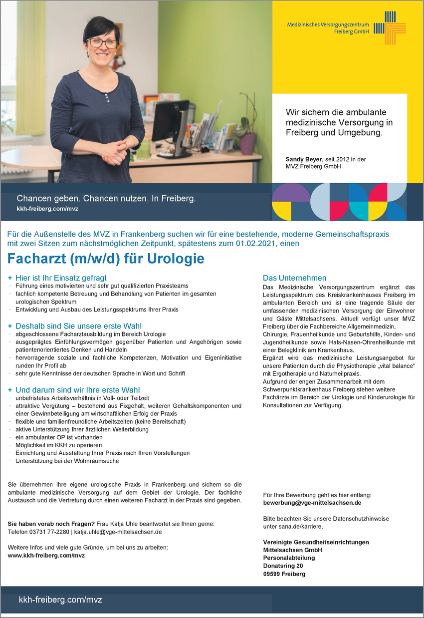 Facharzt (m/w/d) Urologie