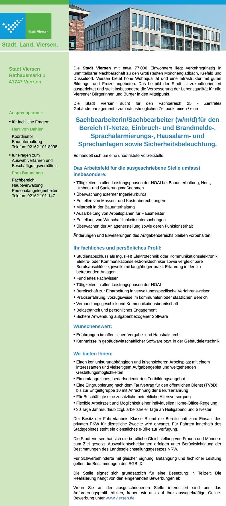 Ingenieur/in Elektrotechnik (m/w/d)