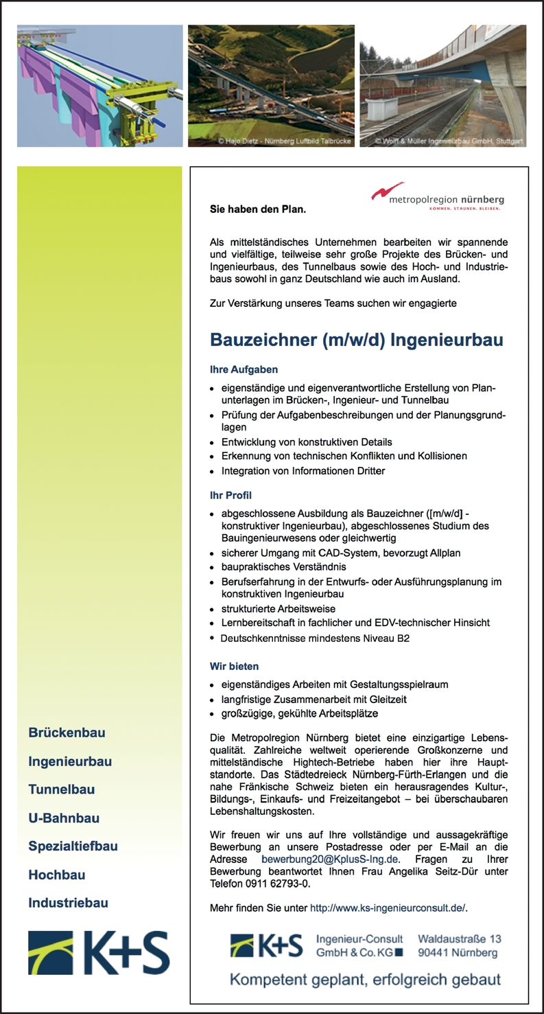 Bauzeichner (m/w/d) Ingenieurbau