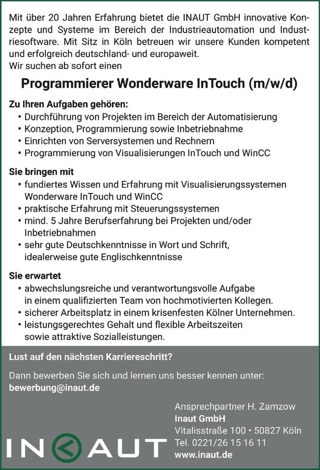 Programmierer (m/w/d)