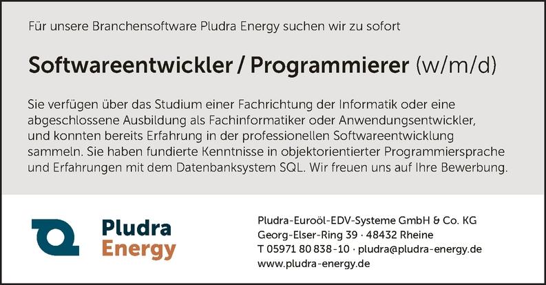 Softwareentwickler / Programmierer (w/m/d)