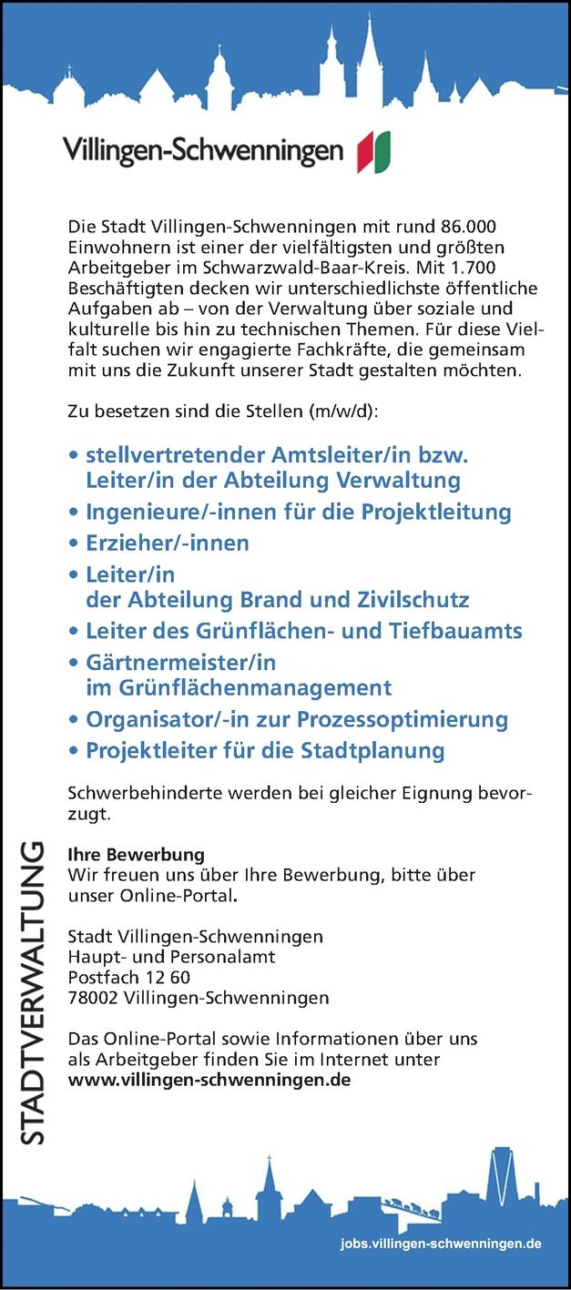 Stellvertretender Amtsleiter/in Abteilung Verwaltung