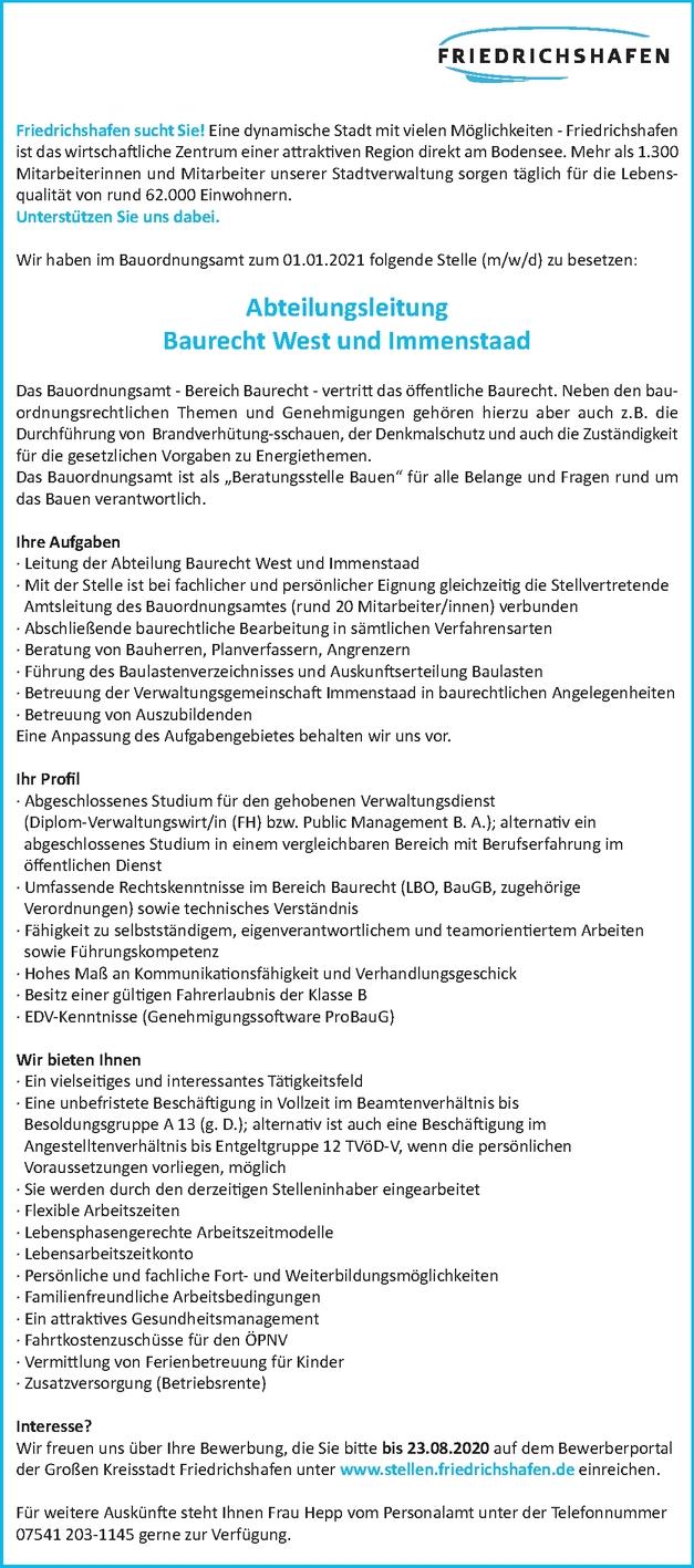 Dipl.-Verwaltungswirt/in (FH) (m/w/d)