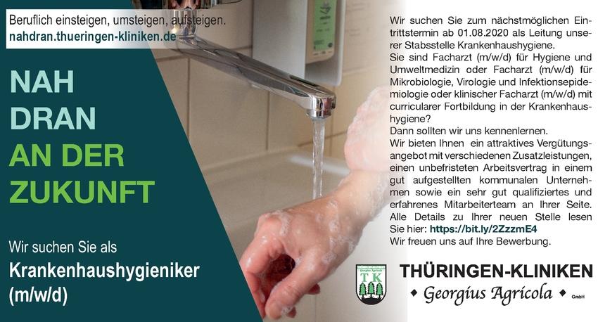 Facharzt m/w/d - Hygiene und Umweltmedizin