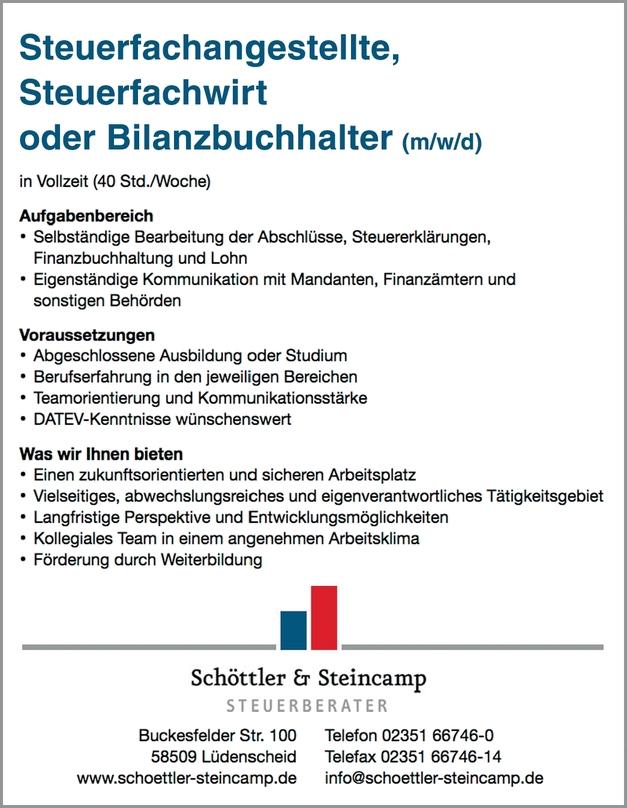 Steuerfachwirt (m/w/d)