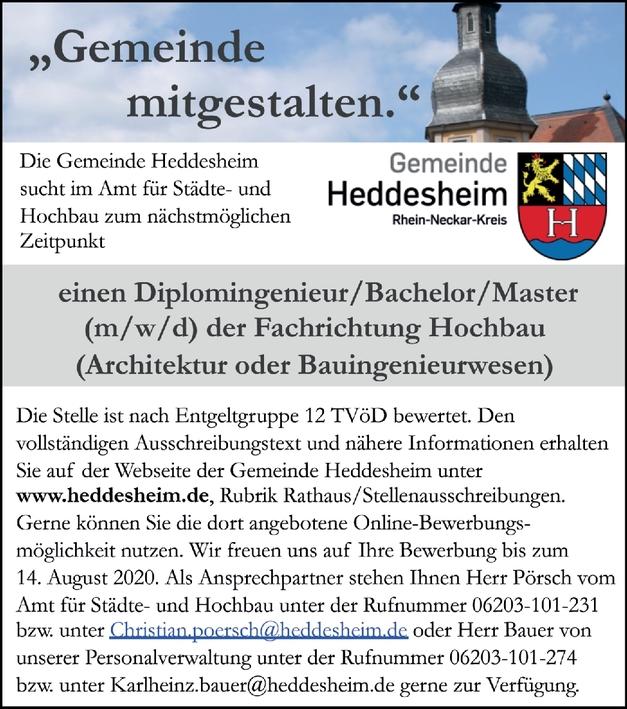 Diplom-Ingenieur Hochbau (m/w/d)