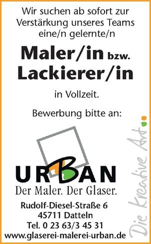 Maler/in bzw.  Lackierer/in (m/w/d)