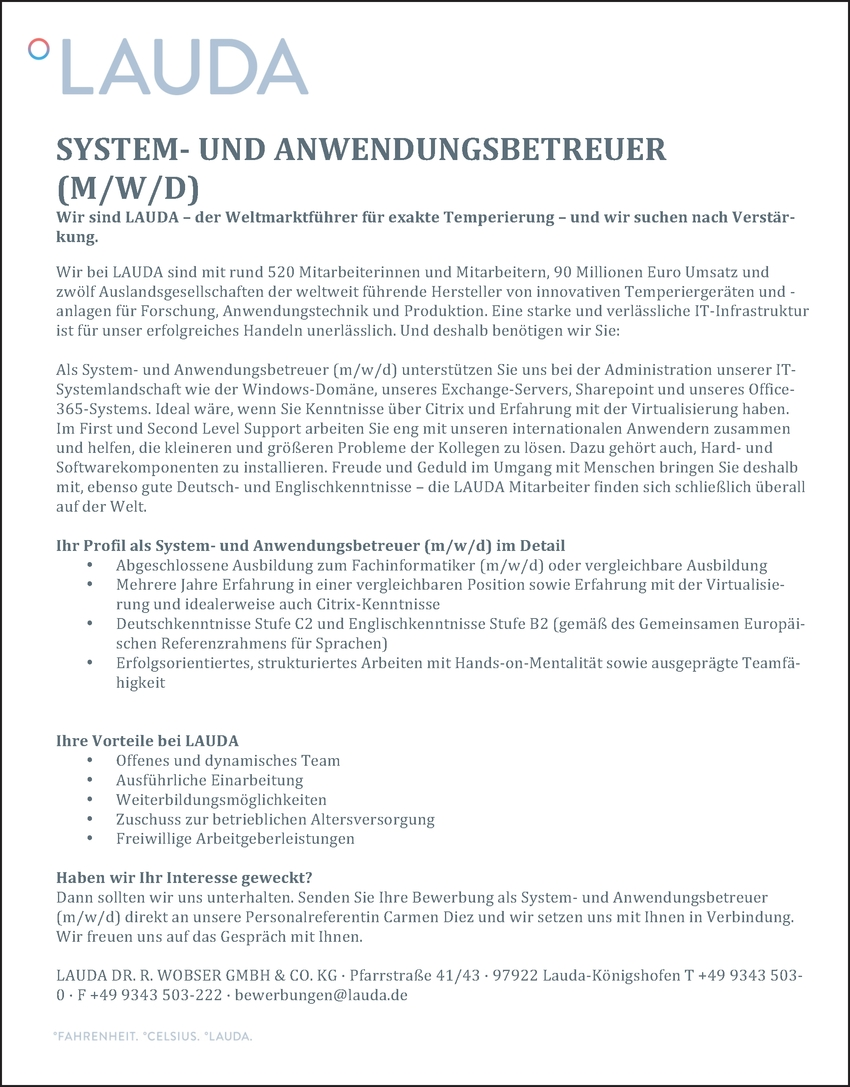 Systembetreuer/in (EDV)