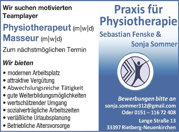 Physiotherapeut m/w/d