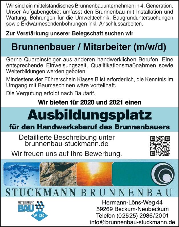 Ausbildungsplatz Brunnenbauer