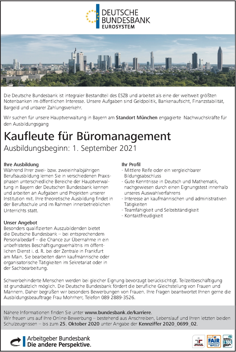 Auszubildende Kaufleute für Büromanagement