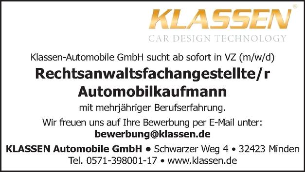 Automobilkaufmann (m/w/d)