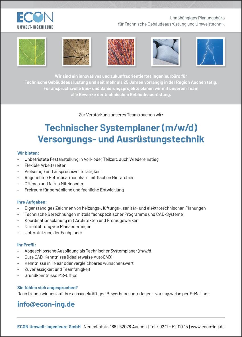Technischer Systemplaner m/w/d